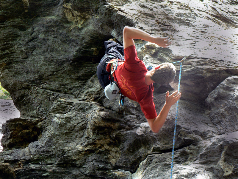 Rock Climbing Photo: The sweet awesome bat hang- a must do for those fe...
