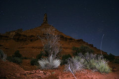 Rock Climbing Photo: Castleton at Night (w/ headlamp streaks accidently...