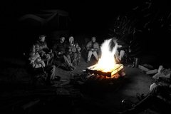 Rock Climbing Photo: Campfire with friends in Indian Creek