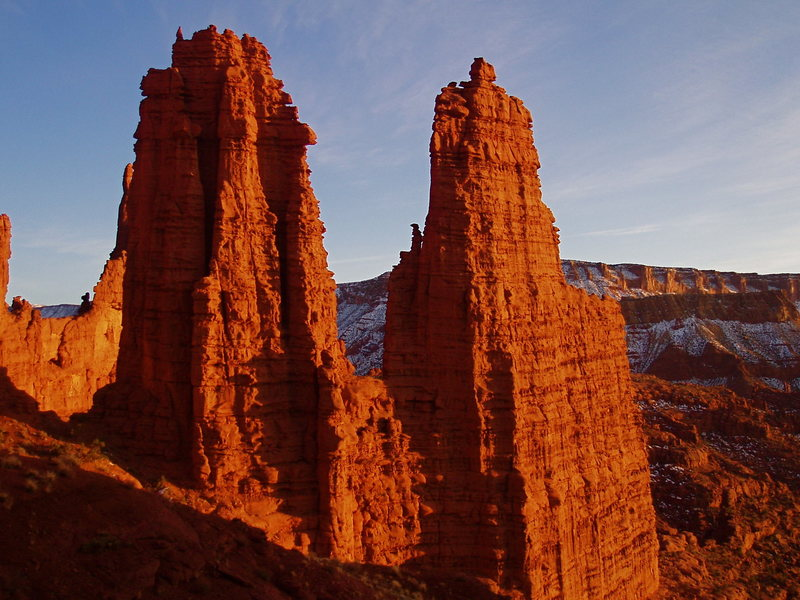 Rock Climbing Photo: Echo and Cottontail