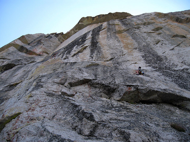 Rock Climbing Photo: Much of the route is visible