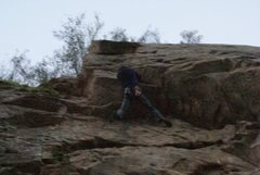 Rock Climbing Photo: Pulling the roof on TR