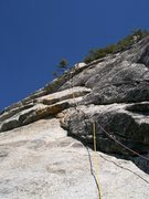 Rock Climbing Photo: Looking up the Third Pitch of fingertrip with the ...