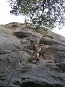 Rock Climbing Photo: Jenny At the Small overhang with what I think may ...