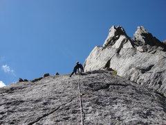 Rock Climbing Photo: Pitch one.  Wide open terrain.  Excellent rock.
