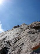Rock Climbing Photo: This is the awesome finger crack on pitch 3.