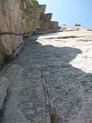 Rock Climbing Photo: Toeside on the sharp. Zanzibar Dihedral