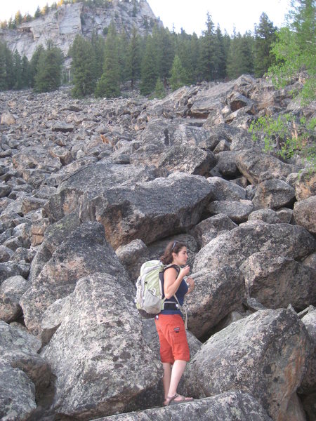 Rock Climbing Photo: After a long talus decent