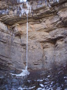 Rock Climbing Photo: The Fang in WI9 condition.
