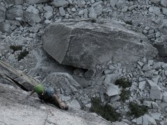Rock Climbing Photo: Dustin on the crux pitch of OZ