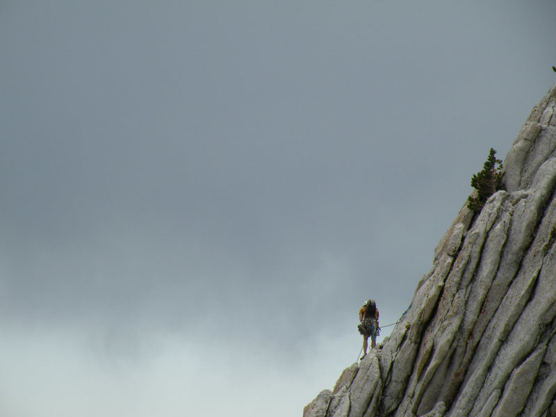 Rock Climbing Photo: Climber on the SE buttress
