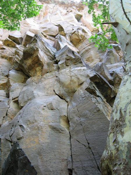 Rock Climbing Photo: The start of Natural Enhancement.  Do not underest...