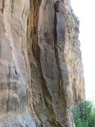 Rock Climbing Photo: The Lord awaits you...  Pretty classic.  Black and...