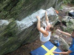 Rock Climbing Photo: Sofi on Meat & Potatoes, V2