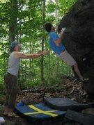 Rock Climbing Photo: me sending Nippin' Out, V3