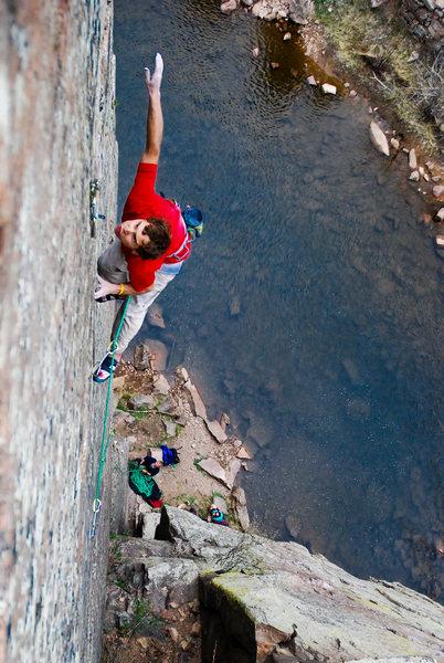 Climber: Jonathan Siegrist.<br> Photo: Andy Mann.