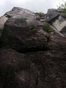 Rock Climbing Photo: Fractured Fairy Tale is the route up the middle of...