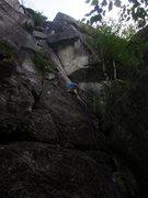 Rock Climbing Photo: Jon Starting His Lead