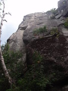 Rock Climbing Photo: Jack Be Nimble starts in the dihedral on the left ...