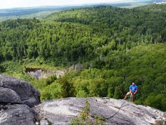 Rock Climbing Photo: Jon at the top of Jack be Nimble.  Taken from the ...