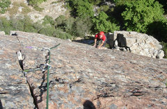 Rock Climbing Photo: Lee Jensen, looking kinda happy after clearing the...