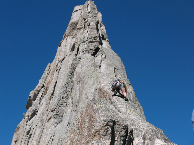 """carl just before he laid down """"the wet spot"""" on the east ridge<br> <br>"""