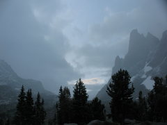 Rock Climbing Photo: warbonnet one cold stormy morning