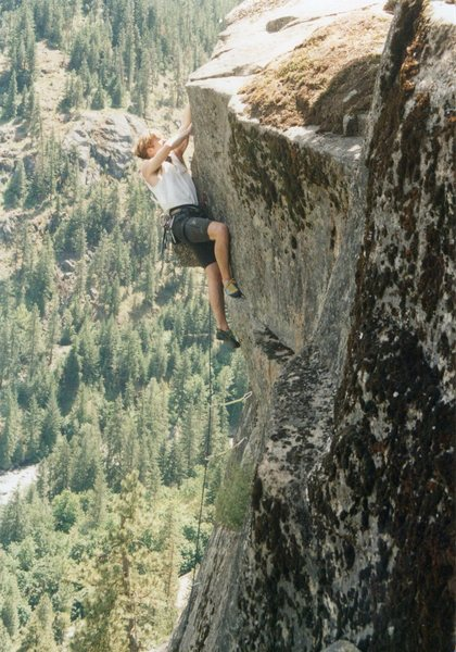 Rock Climbing Photo: Pumpline, circa 1994.  Lookin' good now, but momen...