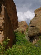 Rock Climbing Photo: Climber on How The West Was Won as viewed from the...