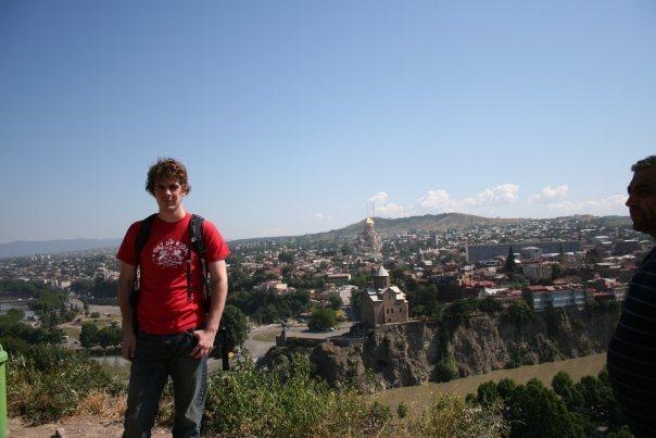 Rock Climbing Photo: On a hill overlooking Tbilisi, Georgia.