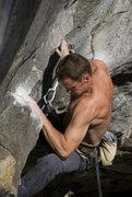 Rock Climbing Photo: Chris on the E-ticket.... rippin, naturally.