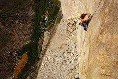 Rock Climbing Photo: Cucumbers (5.10a) on Cardinal Pinnacle. Climber: C...