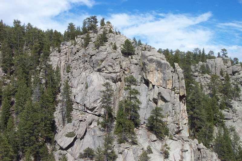 Shaft (main crag) area.