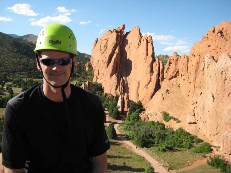 Me on top of Montezuma's Tower in the Garden of the Gods.