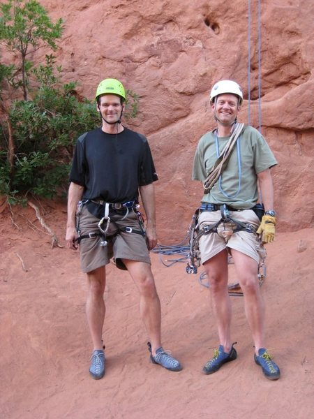 Rock Climbing Photo: Me (left)and Dave Gibson at the Garden.
