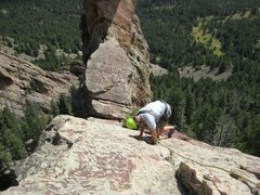 Rock Climbing Photo: Me leading P2 on The Maiden