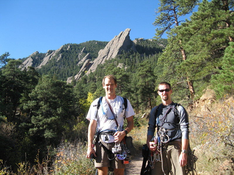 Me and Chris Orwat prior to climbing the 3rd Flatiron.