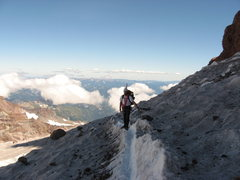 Rock Climbing Photo: moving toward Ingraham Flats Camp on Mt. Rainier