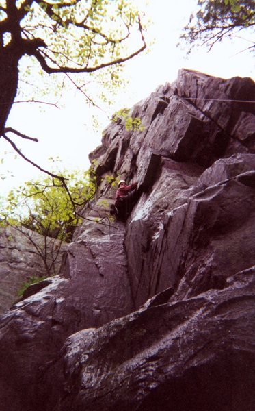 Rock Climbing Photo: Picture of me climbing at Devils Lake