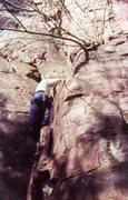 Rock Climbing Photo: Me Climbing at Devils Lake (Birch Tree Dihedral)