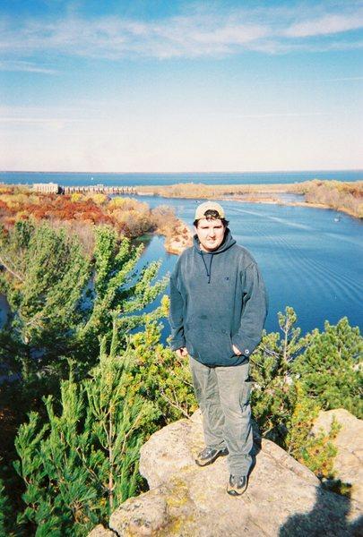 Standing atop of Petenwell Rock on Halloween 2003