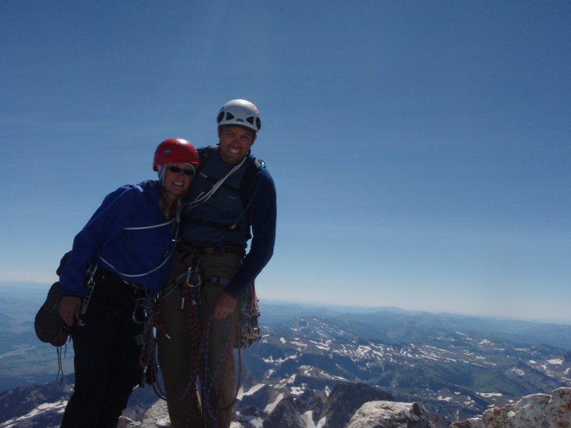 Me and my wife at the top of the Grand Teton