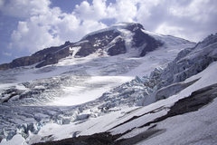 Rock Climbing Photo: Mt. Baker. Coleman Glacier in August.