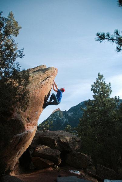 Climber: Scott Neel.<br> Photo: Andy Mann.