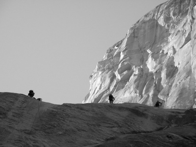 Rock Climbing Photo: Climbers on the nose