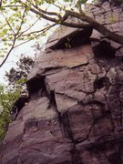 Rock Climbing Photo: Me Climbing Snedegar's Nose at Devils Lake