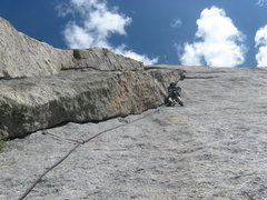 Rock Climbing Photo: This is Ben Doyle leading the seventh pitch, one o...