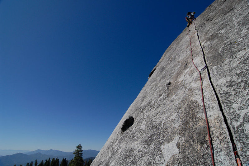 Rock Climbing Photo: Rob Chaney climbs the stunning 2nd pitch of Tree R...