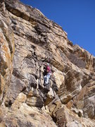 Rock Climbing Photo: Bob Grey on The Leak.  Really nice rock on this on...