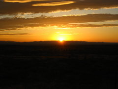Rock Climbing Photo: Sunrise over the Snake River Plains, looking East ...